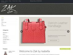 DYNAMIC WEBSITE DESIGN >> Zak By Isabella exotic Ostrich Leather Online shop