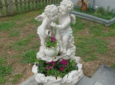 former water fountain I turned into a planter