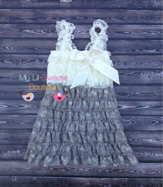 Gray and Ivory dress silver dress Lace von MyLilSweetieBoutique