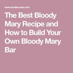 This Bloody Mary recipe makes a spicy, flavorful vodka cocktail. Add as many toppings as you'd like to get your drink just right! Best Bloody Mary Recipe, Bloody Mary Recipes, Bloody Mary Bar, Vegas Fun, Vodka Cocktails, Drinks, Build Your Own, Give Thanks, Cocktail Recipes