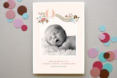 FAIRY TALE BEGINNINGS #baby #birth #announcement