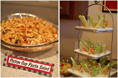 """Cars"" Theme 2nd Birthday Party - Piston Cup Pasta Salad & Appetizers"