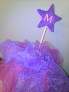 Hand made wooden glitter princess and by MommySalamiOnEtsy on Etsy, $5.00