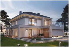 Veja agora 42 modelos de fachadas de casas que podem inspirar você na busca e sonho de ter o projeto da sua casa dos sonhos da sua família Philippine Houses, 2 Storey House, Duplex House, Modern Mansion, Sims House, Concept Home, Modern House Design, House Colors, Exterior Design