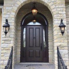 Side Light Entry Doors | Amberwood Doors Inc. Modern Wooden Doors, Wooden Main Door Design, Double Doors Exterior, Beautiful Front Doors, Entry Doors, New Homes, House Design, Front Porches, Ghana