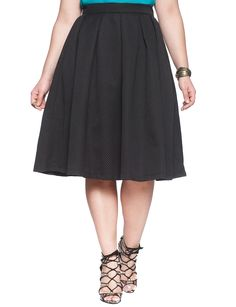 Studio Textured Midi Skirt | Women's Plus Size Skirts | ELOQUII