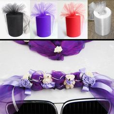Tulle Roll 14.5cm 55 Meters Fabric Spool Tutu Party Birthday Gift Wrap Wedding Decoration Crafts Festive Supplies Hogard #Affiliate