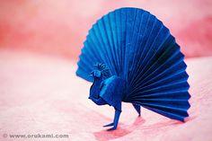 Akira Yoshizawa Origami Peacock by Himanshu (Mumbai, India), via Flickr