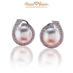 White South Sea Pearls earrings from #BrianGavinDiamonds