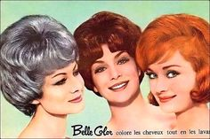 look at those hairdos. Beauty Ad, Beauty Shop, True Beauty, Vintage Classics, Vintage Ads, Vintage Images, 1960s Hair, Shave My Head, Teased Hair