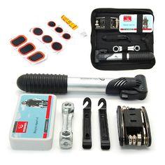 16in1 Multi-function Herramientas Bicicleta Tool Repair Kit Set Pump Bike Tools Bag for Mountain Bike Bicycle BHU2
