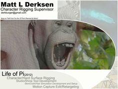 Matt L Derksen VFX and Character Rigging Demo Reel