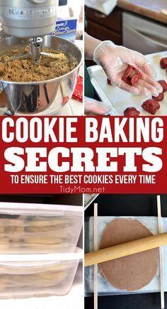 There are a few cookie baking secrets and tips I've learned over the years for making the best cookies. Traditionally, cookies are fairly simple, many cookie recipes use basically the same dough, varying proportions of ingredients slightly. Because these cookies are so simple with little margin for error, if you follow the directions carefully along with these cookie baking secrets it will help ensure your cookies are the best every time. Click to learn more at http://TidyMom.net