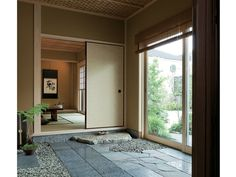 Varied materials - natural materials in entry hall to blend outside and inside Design, Modern Japanese Architecture, House Design, House Elements, House, Japanese Home Design, Interior Architecture, House Exterior, Hallway Designs