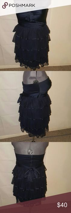 TORRID DARK BLUE STRAPLESS DRESS 520 100% polyester lining 100% polyester Measurements bust 48-50 waist 42-44 hip 52-54 Length from the bust 31 inches long torrid Dresses Strapless