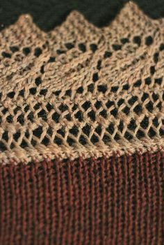 How to knit a knitted on edging