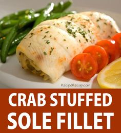 Crab Stuffed Sole Fish Fillet Recipe
