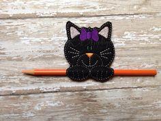 Chloe Kitten Pencil Holder ITH Embroidery Design por AKAApplique, $3.50