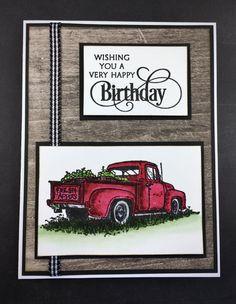 Unique Birthday Cards, Homemade Birthday Cards, Masculine Birthday Cards, Vintage Birthday, Masculine Cards, Country Birthday, Man Birthday, Happy Birthday, Special Birthday