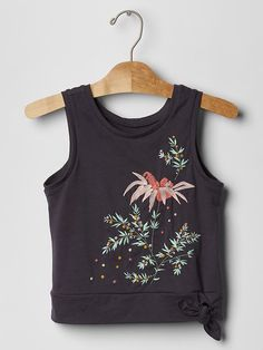 GAP Kids Girls Embroidered Flowers Knot Tie Tank Top Shirt XS M 4 5 8 NWT $20    eBay