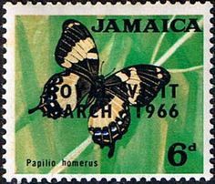 Jamaica 1964 Royal Visit Butterfly Fine Mint SG Scott 249 Other West Indies and British Commonwealth Stamps HERE!