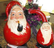 old world santa gourd | Seasonal Whimsies by Susan V.: New Santa Gourds