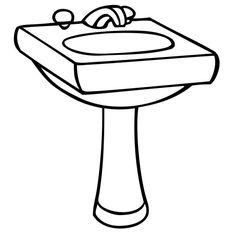 """Résultat de recherche d'images pour """"lavabo dessin"""""""