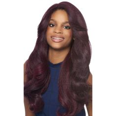 Outre Synthetic Lace Front Wig L Part Batik - Dominican Blowout Relaxed
