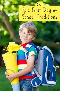Summer is around the corner, and back to school is coming soon. These traditions will have your kids looking forward to the first day of school. We love these first day of school traditions and activities! First Day Of School Activities, 1st Day Of School, The New School, School Fun, Pre School, School Daze, School Ideas, Play Based Learning, Kids Learning Activities