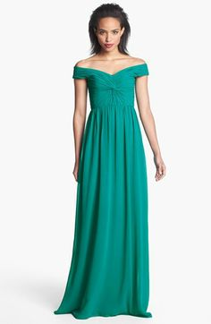 Erin by Erin Fetherston 'Clarisse' Front Twist Chiffon Gown available at #Nordstrom