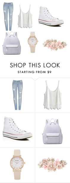 """""""My First Polyvore Outfit"""" by rinadedvukaj ❤ liked on Polyvore featuring Chicwish, Converse and Accessorize"""