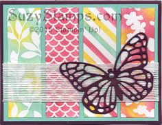 Stampin' Up! Cards - 2015-02 Class - Sale-A-Bration Irresistaibly Yours Specialty Designer Series Paper, Butterflies Thinlits Dies
