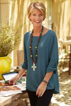 Go To Pullover - Ladies Pullover Dress, Draping, Dresses   Soft Surroundings--Fall 2013