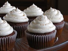 Gingerbread Cupcakes with Egg Nog Frosting 3