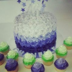 Ombre Cake & Cup Cakes