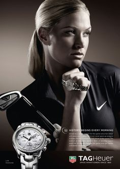 Suzann Petterson for TAG Heuer ad