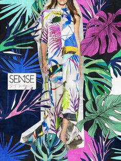 Hot Tropical // Estampas Tropicais // Studio Sense Fashion Design Portfolio, Fashion Design Drawings, Fashion Fabric, Fashion Prints, Textile Prints, Textile Design, Color Patterns, Print Patterns, Trend Fabrics