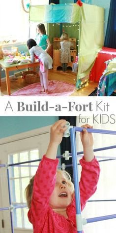 An awesome fort building kit for kids by Fort Magic! This kit makes all-kinds of BIG, sturdy forts and other things (submarines, cars, castles) using tubes and connectors. (+ enter the #giveaway for a fort kit thru 3/18)