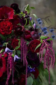 Ideas for wedding flowers burgundy jewel tones Jewel Tone Wedding, Floral Wedding, Wedding Bouquets, Wedding Flowers, Flower Bouquets, Winter Bridal Bouquets, Flower Vases, Wedding Themes, Wedding Colors