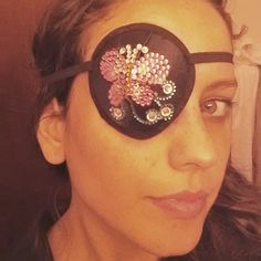 """When you have to wear an #eyepatch it needs to be #bedazzled #piratelife"""