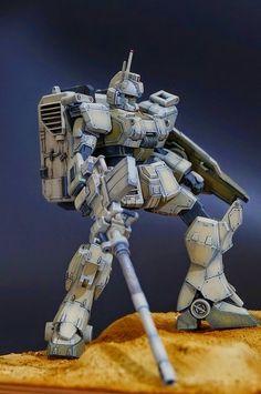 "MODELER: MS329 MODEL TITLE : Gundam Ez8 ""TsuyoSo-gata"" MODIFICATION TYPE: diorama, custom paint job, weathering, pre-shading, custom detai..."