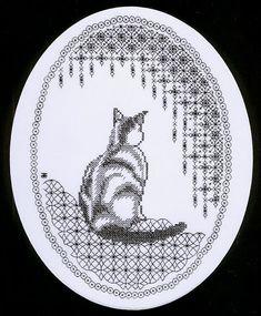 blackwork cat)