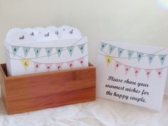 Wedding Guest Book Box Hitched and Happy by LarksAndCake on Etsy, $50.00