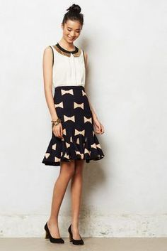 Bowtie Pencil Skirt