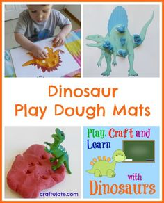 Dinosaur Play Dough Mats - Craftulate