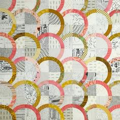 Circle Maze quilt pattern by Cristy Fincher coming in Feb/March Can't wait! Quilting Projects, Quilting Designs, Sewing Projects, Quilting Ideas, Circle Quilts, Quilt Blocks, Drunkards Path Quilt, Low Volume Quilt, Quilt Modernen