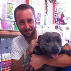 images of Alex OLoughlin and his dog - Google Search