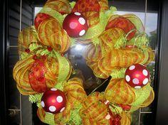 Holiday Stripe Christmas Wreath