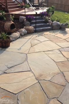Patio Designs & Contractors in Annapolis, MD Our team will work with you to make sure that we are giving you the patio of your dreams.Our team will work with you to make sure that we are giving you the patio of your dreams. Slate Patio, Flagstone Patio, Concrete Patio, Brick Walkway, Front Walkway, Stone Patio Designs, Outdoor Patio Designs, Patio Ideas, Outdoor Stone