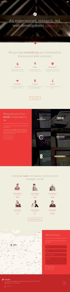 Red Bullet - Flat Design Website